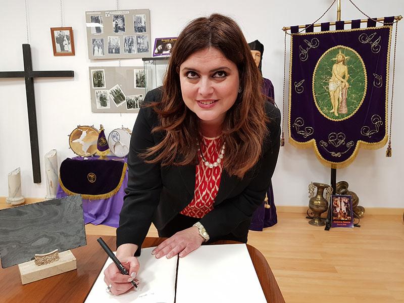 La directora del Museo Salzillo, María Teresa Marín, ofreció una interesante charla en Abarán