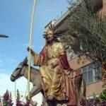 La procesión de 'La burrica' preside los actos del Domingo de Ramos en Abarán