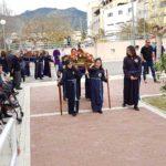 La Semana Santa de Abarán traslada su colorido y solemnidad a la Residencia Nicolás Gómez Tornero