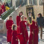 La procesión infantil volvió a llenar de colorido e ilusión las calles de Abarán