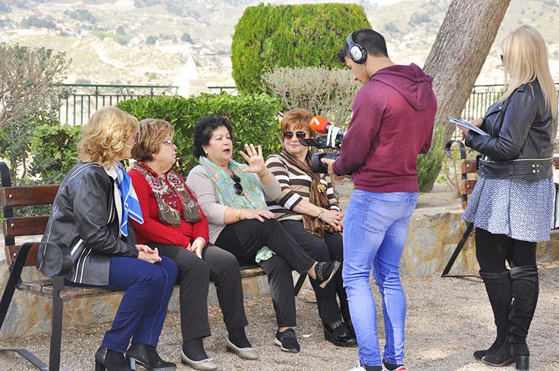 Las 'Divinas' durante la grabación del programa