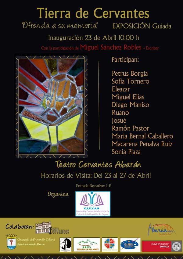 Abarán conmemorará el Día del Libro con una exposición artística de temática cervantina