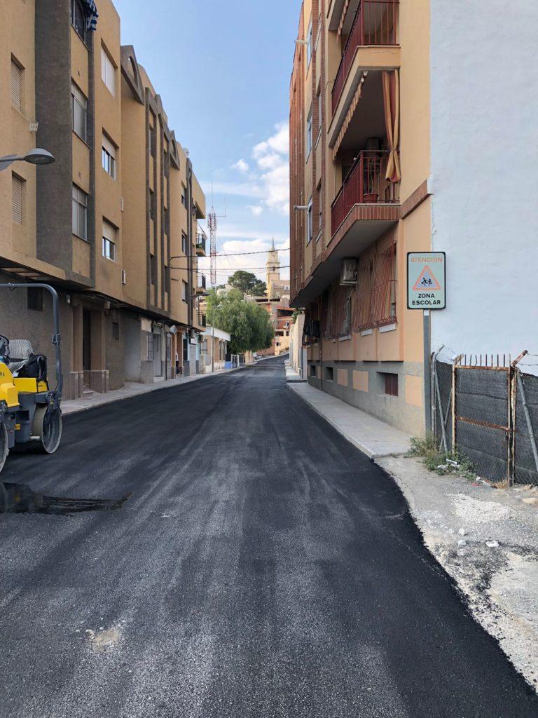 Obras de acondicionamiento de la calle Juan XXIII (Ya concluida)