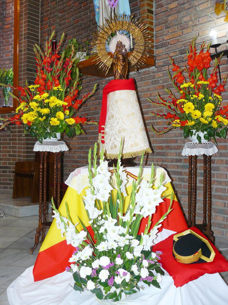 Vivas a España, la Guardia Civil y la Virgen del Pilar en la conmemoración del Día de la Hispanidad