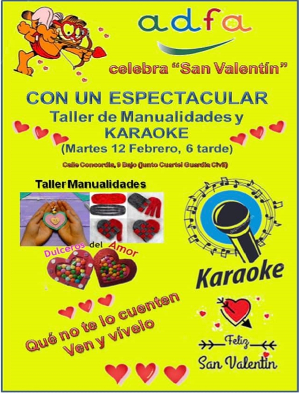 ADFA celebra San Valentín con un taller de manualidades