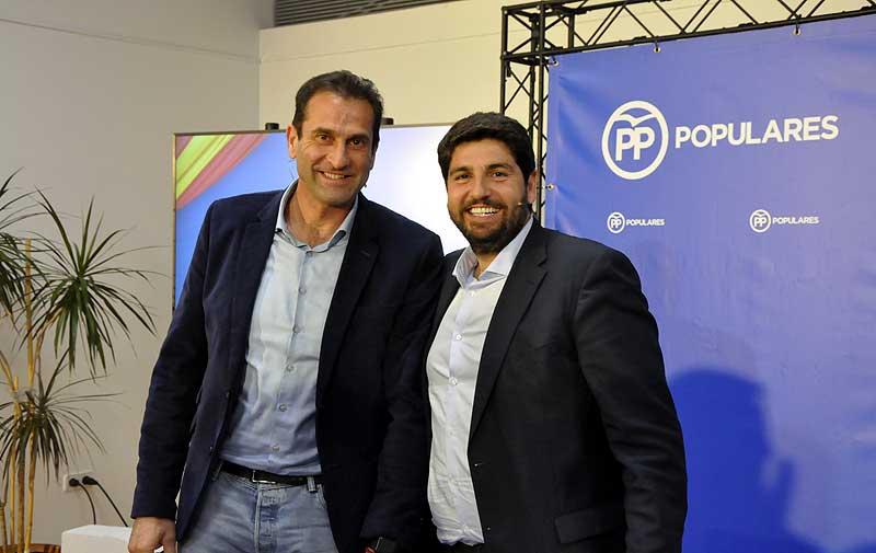 José Miguel Manzanares junto al presidente de la Comunidad