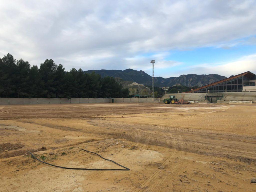Comienzan las obras en el Campo de Fútbol Municipal de Blanca