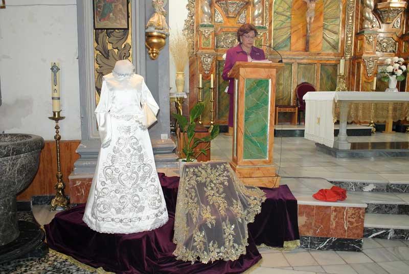 Toca Sobre Manto de Ntra. Sra. La Virgen de la Amargura y Nueva Saya de Ntra. Sra. La Virgen de la Soledad