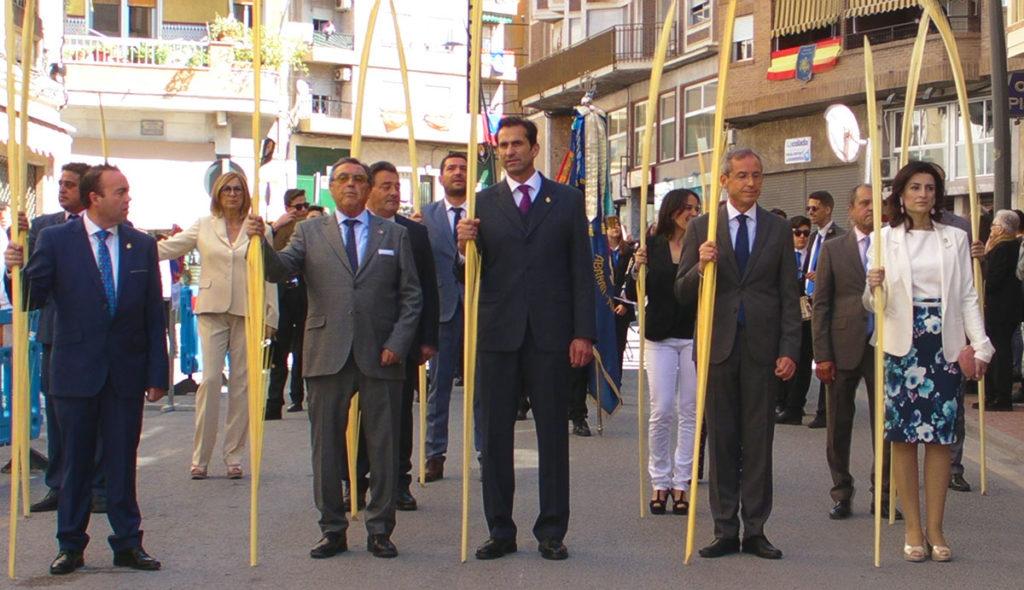 A la procesión también asistió D. Manuel Marcos Sánchez, secretario general de la Consejería de Familia e Igualdad de la CARM.