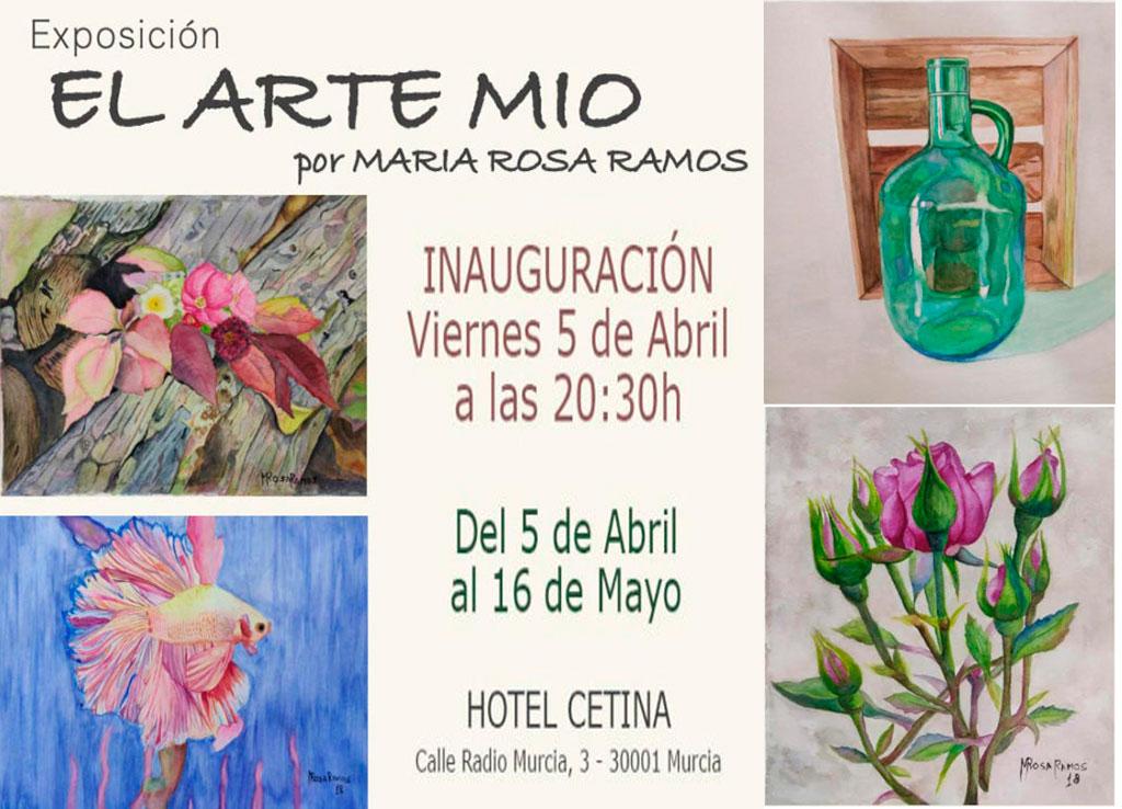 Hoy se inaugura en el hotel Cetina de Murcia 'El arte mío' de María Rosa Ramos